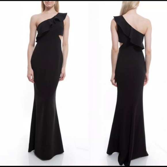 Likely Dresses & Skirts - Likely Jillian Ruffled One Shoulder Evening Dress